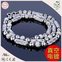 Popular collar de cadena más grueso para hombre de plata de ley S925 pesado extravagante