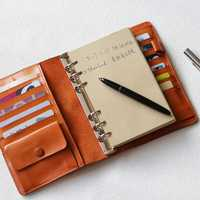 2018 Yiwi B6 00% cuero genuino cuaderno hecho a mano de la vendimia del zurriago diario de viaje diario Bind Planner regalo