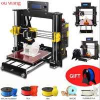 2019 nuevo 3D impresora Prusa i3 Reprap MK8 DIY Kit de MK2A Heatbed controlador LCD Comité reanudar falla de energía de impresión
