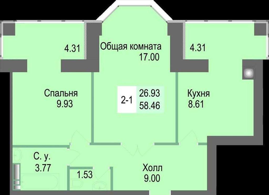 продам 2-комнатную квартиру Киевская обл., ул.Соборная 126/1 - Фото 7