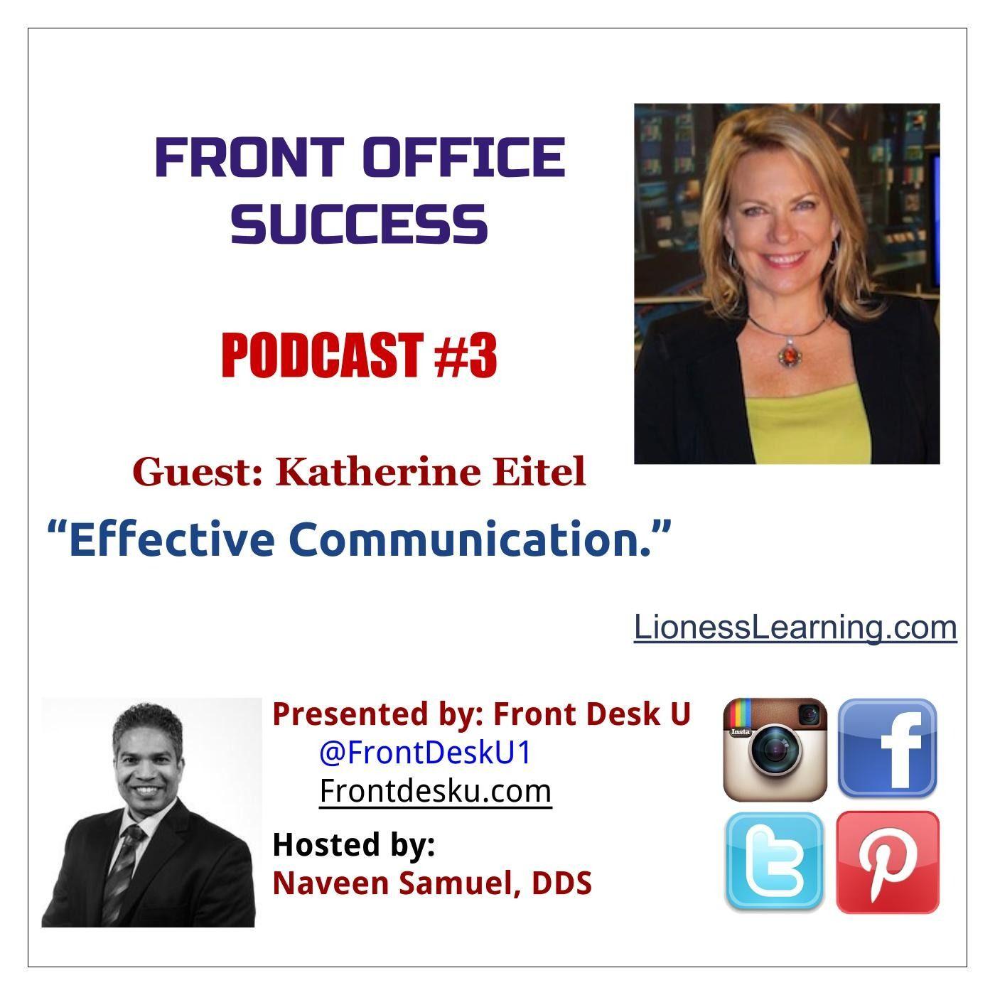 Front Office Success - Podcast #3 - Katherine Eitel