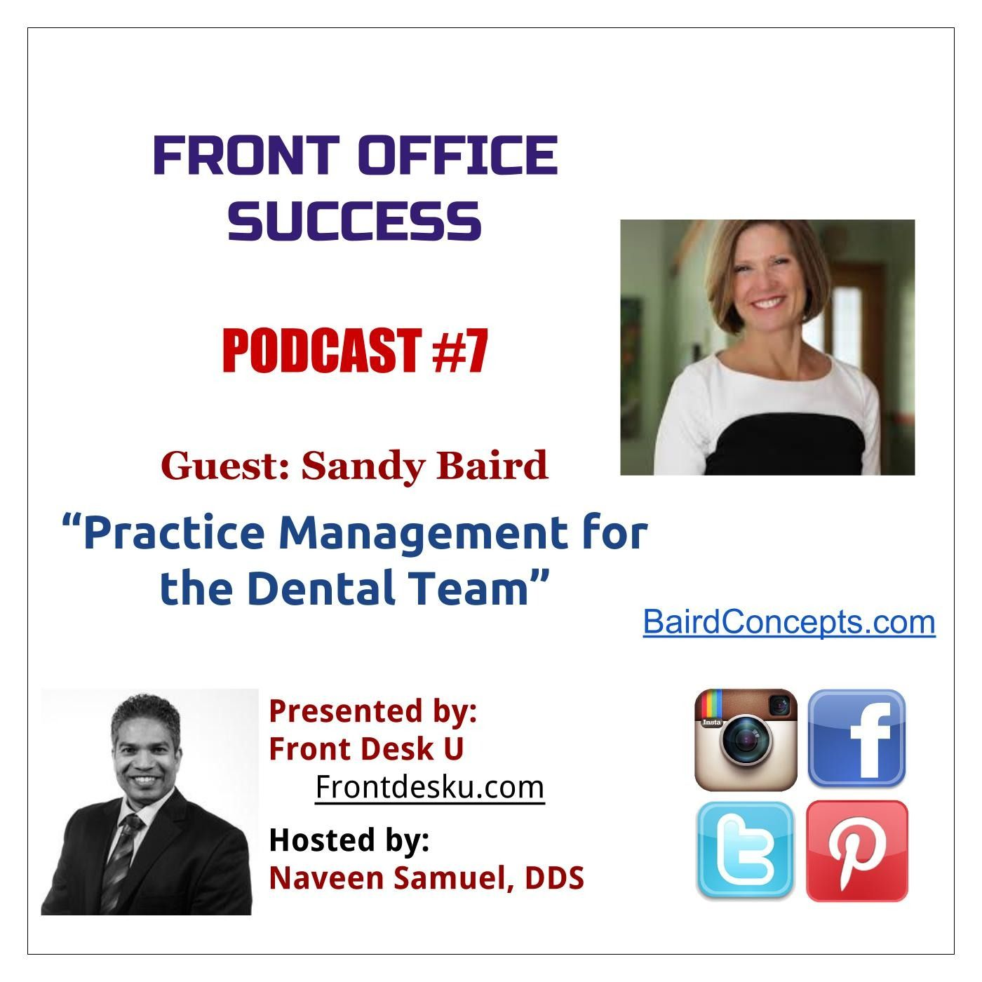 Front Office Success - Podcast #7 - Sandy Baird