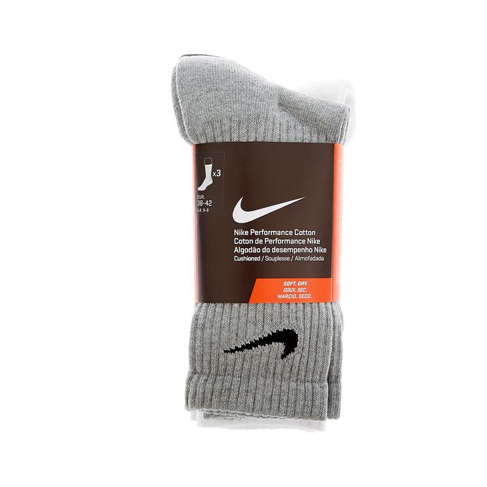 NIKE - Σετ κάλτσες Nike λευκές,γκρι,μαύρες