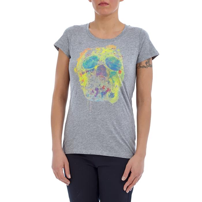 CONVERSE - Γυναικεία μπλούζα Converse γκρι