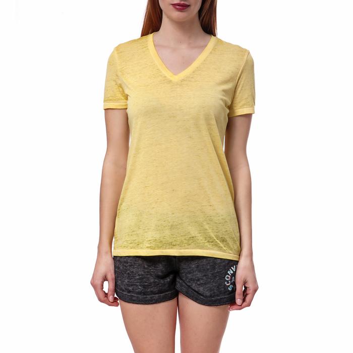 CONVERSE - Γυναικεία μπλούζα Converse κίτρινη
