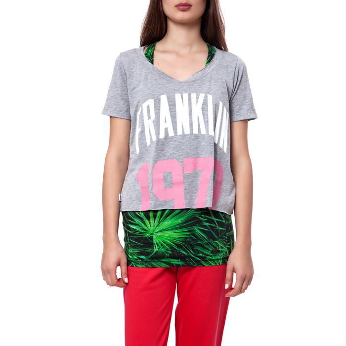 FRANKLIN & MARSHALL - Γυναικεία μπλούζα Franklin & Marshall γκρι