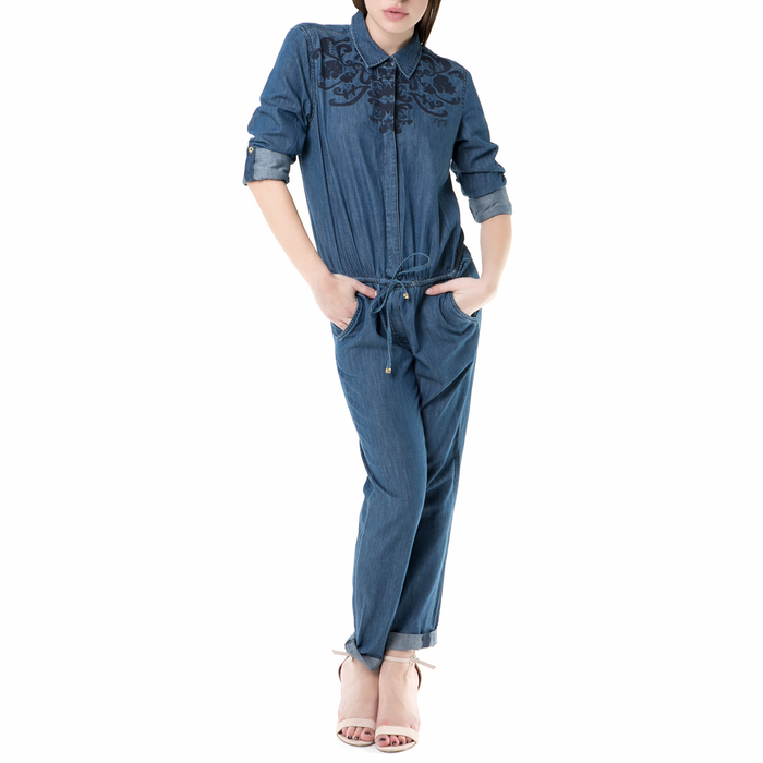 JUICY COUTURE - Γυναικεία τζιν ολόσωμη φόρμα emboidered chambray Juicy Couture