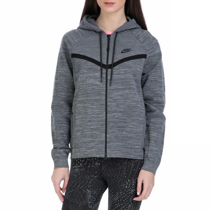 NIKE - Γυναικεία ζακετα Nike Sportswear Tech Fleece γκρι