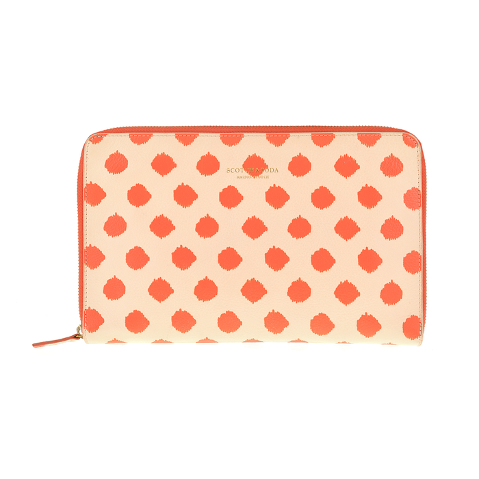SCOTCH & SODA - Clutch SCOTCH & SODA πορτοκαλί με πουά μοτίβο