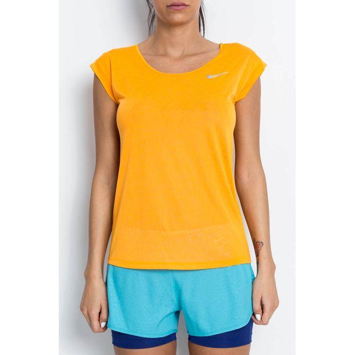 NIKE - Γυναικείο t-shirt Dri - FIT COOL SHORT SLEEVE πορτοκαλί