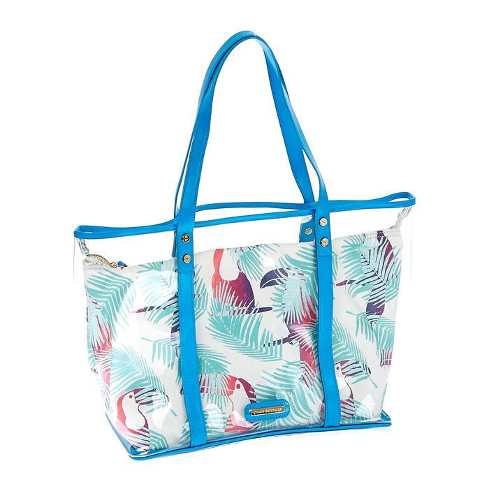 JUICY COUTURE - Γυναικεία τσάντα Juicy Couture μπλε-λευκή