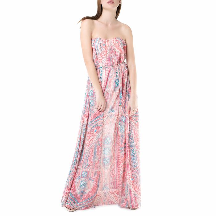 JUICY COUTURE - Μάξι strapless φόρεμα break water Juicy Couture ροζ