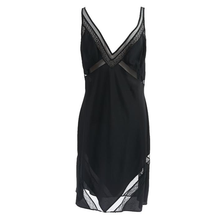 CK UNDERWEAR - Γυναικείο νυχτικό Calvin Klein μαύρο
