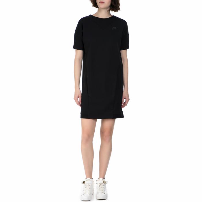 NIKE - Γυναικείο μίνι φόρεμα Nike Sportswear Tech Fleece μαύρο