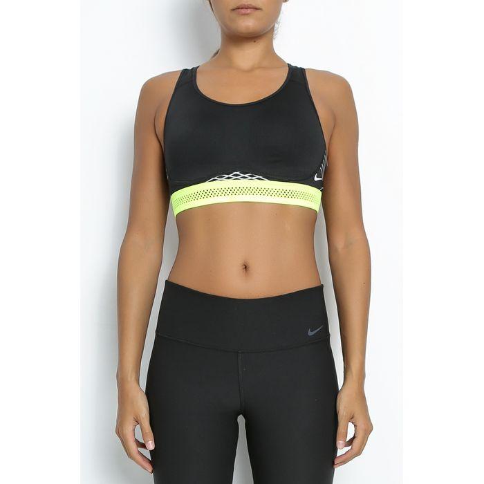 NIKE - Γυναικείο αθλητικό μπουστάκι Nike PRO FIERCE REFLECTIVE μαύρο