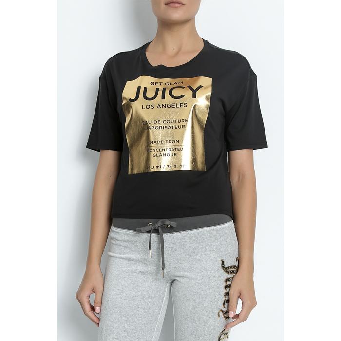 JUICY COUTURE - Γυναικείο t-shirt EAU DE COUTURE GRAPHIC TEE μαύρο