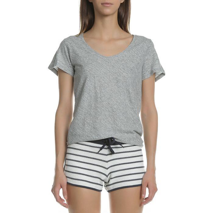 GARCIA JEANS - Γυναικεία κοντομάνικη μπλούζα GARCIA JEANS γκρι