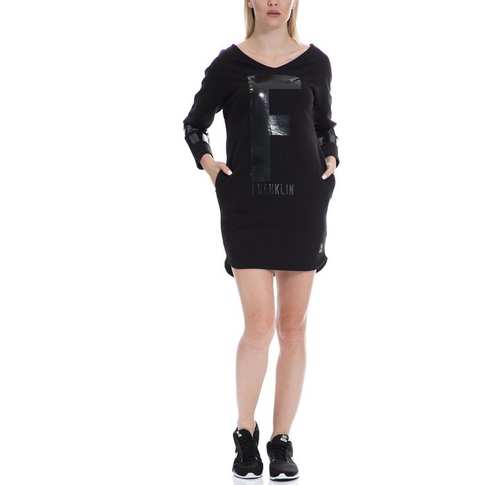 FRANKLIN & MARSHALL - Γυναικείο φόρεμα FRANKLIN & MARSHALL μαύρο