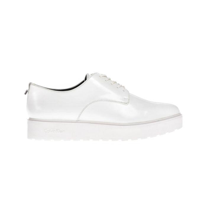 CALVIN KLEIN JEANS - Γυναικεία παπούτσια CALVIN KLEIN JEANS άσπρα