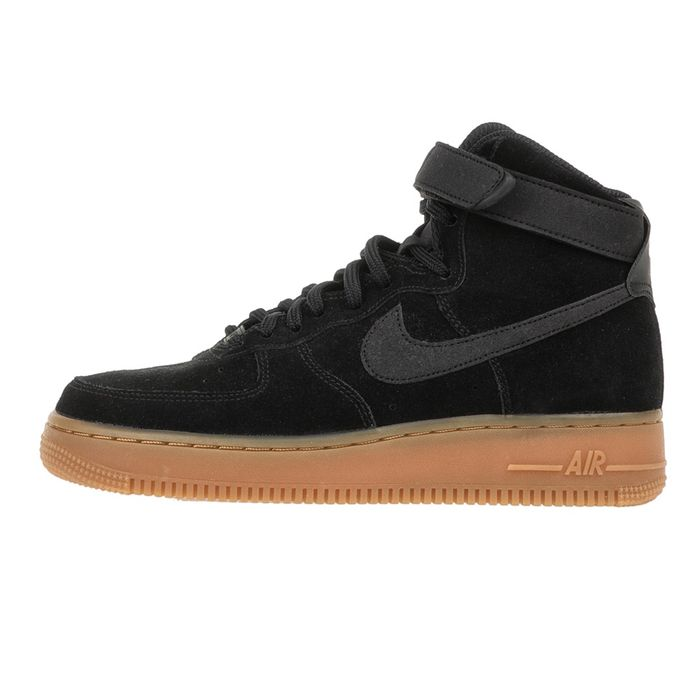 NIKE - Γυναικεία sneakers Nike Air Force 1 Hi SE μαύρα