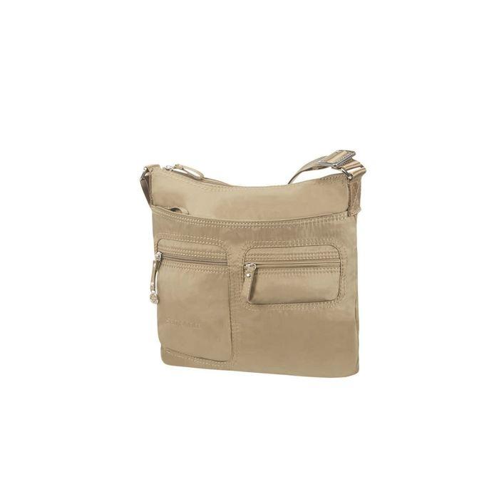 SAMSONITE - Γυναικεία τσάντα ώμου MOVE FLAT SHOULDER BAG IPAD μπεζ