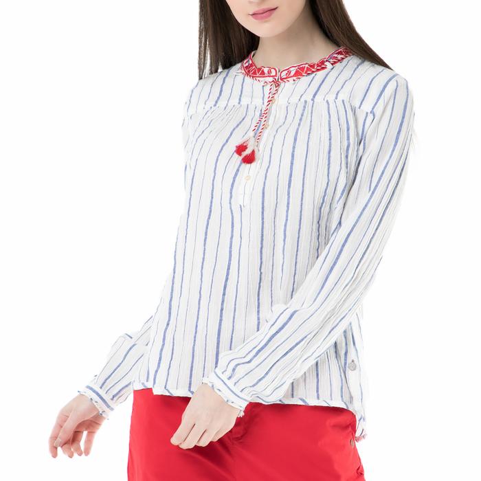 SCOTCH & SODA - Γυναικεία πουκαμίσα SCOTCH & SODA λευκή-γαλάζια
