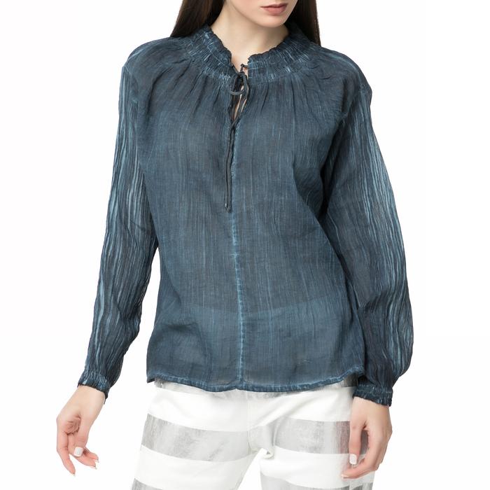 SCOTCH & SODA - Γυναικεία μακρυμάνικη πουκαίσα Scotch & Soda Home Alone μπλε