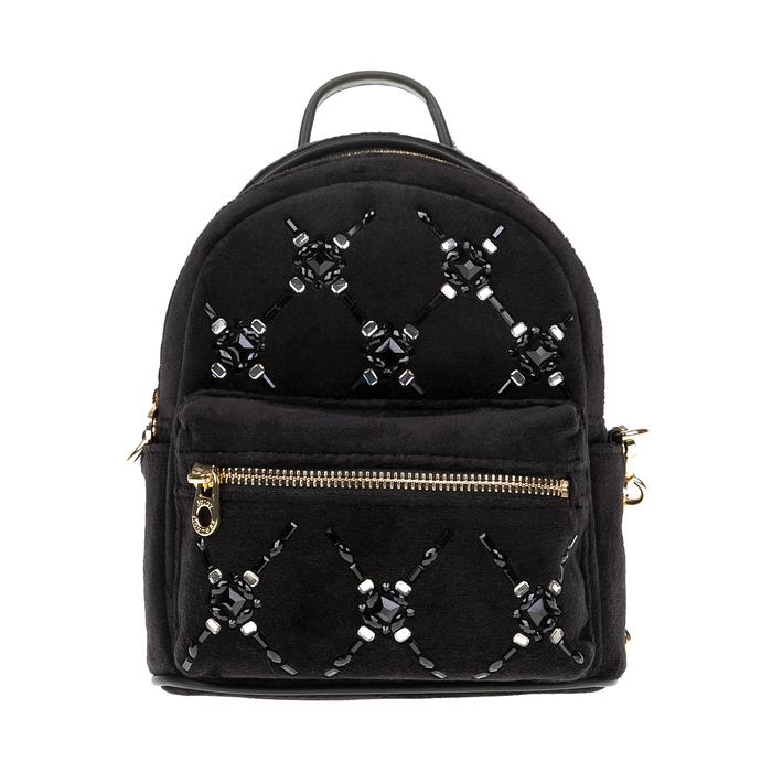 JUICY COUTURE - Γυναικεία mini τσάντα πλάτης JUICY COUTURE μαύρη