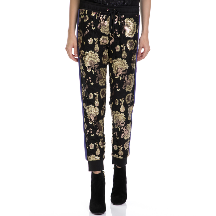 JUICY COUTURE - Γυναικείο παντελόνι JUICY COUTURE μαύρο-χρυσό