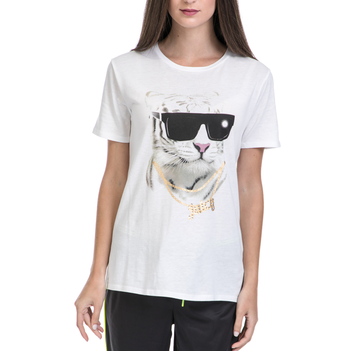 JUICY COUTURE - Γυναικεία μπλούζα JUICY COUTURE λευκή-μαύρη