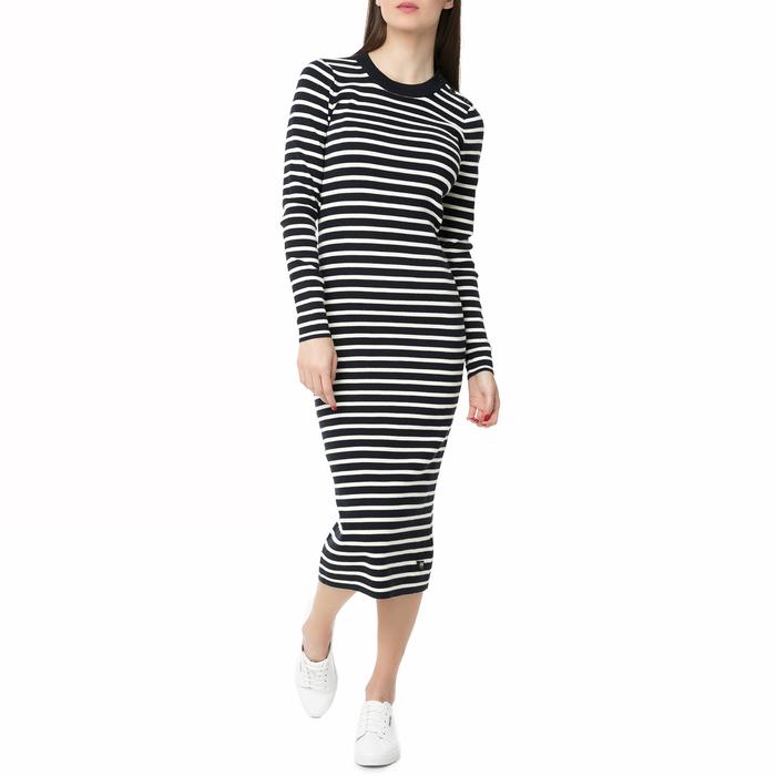 G-STAR RAW - Γυναικείο midi φόρεμα Exly stripe G-STAR RAW ριγέ
