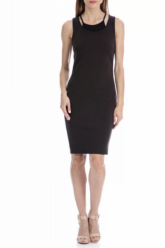 CALVIN KLEIN JEANS - Γυναικείο φόρεμα CALVIN KLEIN JEANS μαύρο