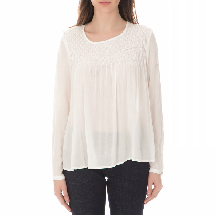 GARCIA JEANS - Γυναικεία μακρυμάνικη πουκαμίσα GARCIA JEANS λευκή