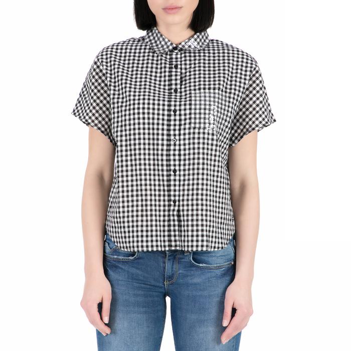 GUESS - Γυναικείο κοντομάνικο πουκάμισο GUESS με καρό μοτίβο