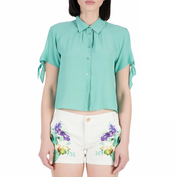 GUESS - Γυναικείο κοντομάνικο πουκάμισο GUESS τιρκουάζ