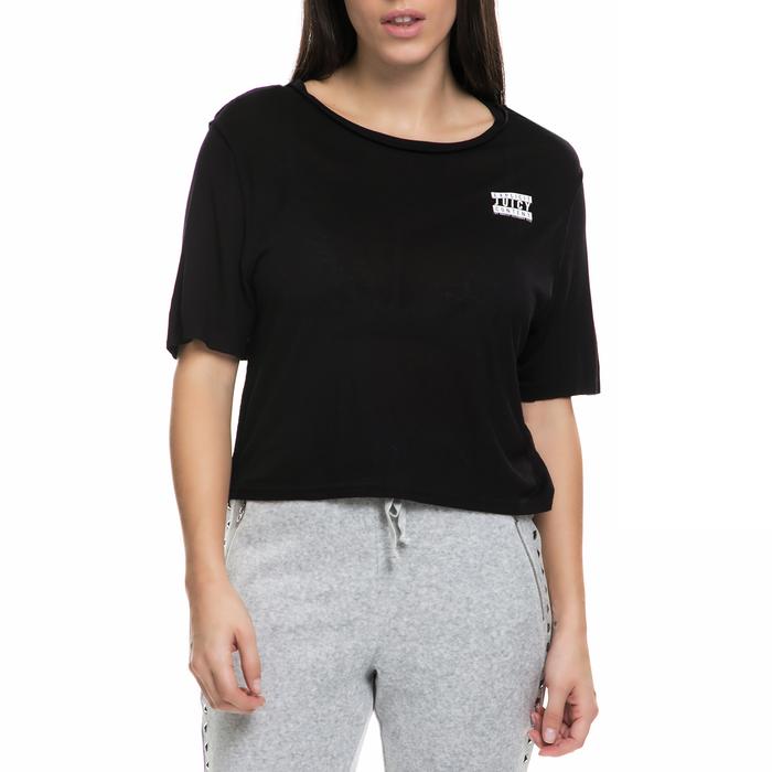 JUICY COUTURE - Γυναικεία κοντομάνικη μπλούζα JUICY COUTURE μαύρη