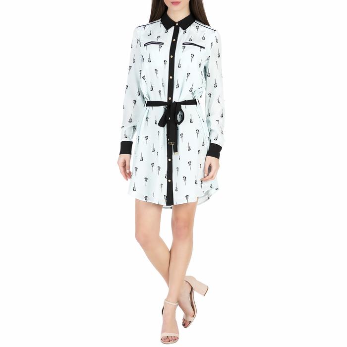 JUICY COUTURE - Γυναικείο μίνι φόρεμα με σχέδιο JUICY COUTURE WANDERLUST γαλάζιο