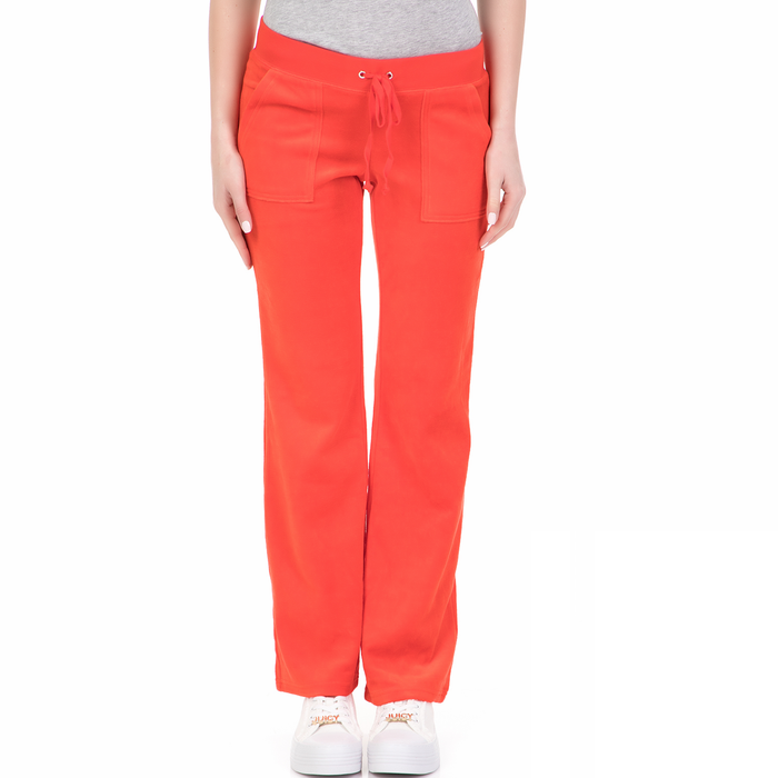 JUICY COUTURE - Γυναικείο παντελόνι φόρμας VELOUR DEL REY JUICY COUTURE κόκκινο