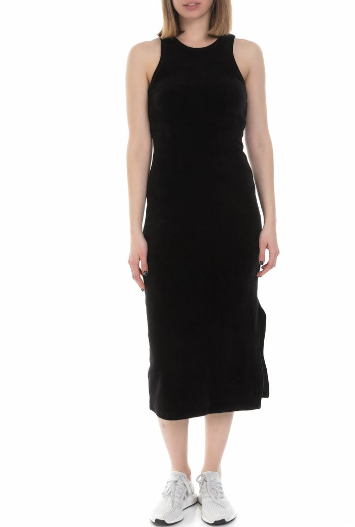 JUICY COUTURE - Γυναικείο αμάνικο midi φόρεμα Juicy Couture μαύρο