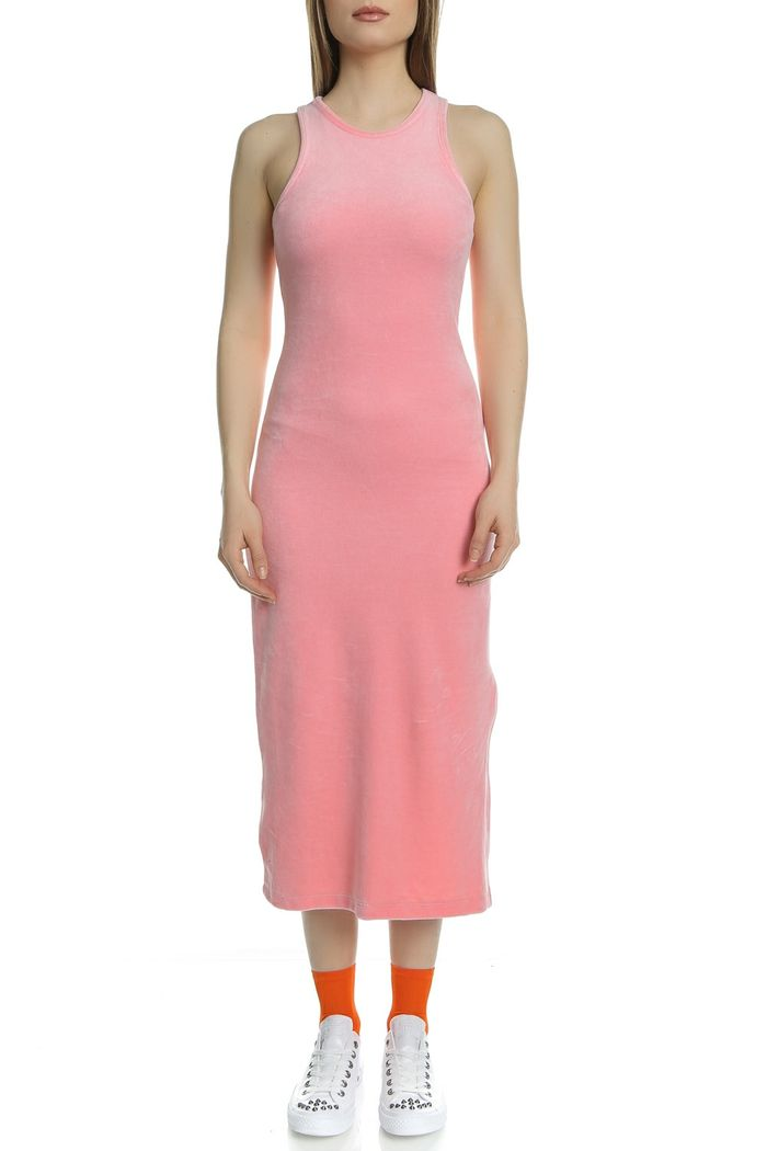 JUICY COUTURE - Γυναικείο αμάνικο midi φόρεμα Juicy Couture ροζ