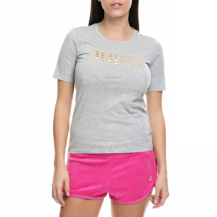 JUICY COUTURE - Γυναικεία κοντομάνικη μπλούζα JUICY COUTURE γκρι