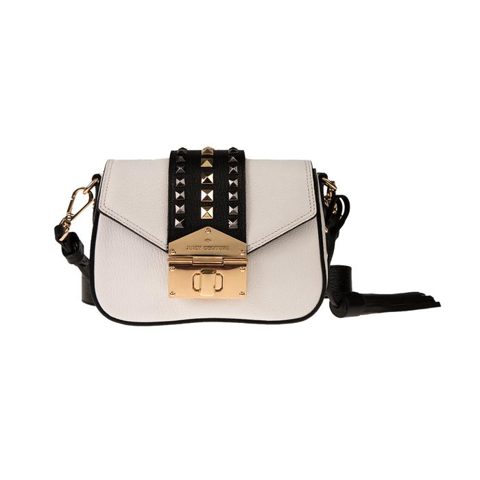 JUICY COUTURE - Γυναικεία τσάντα χιαστί JUICY COUTURE ZEPHYR ασπρόμαυρη