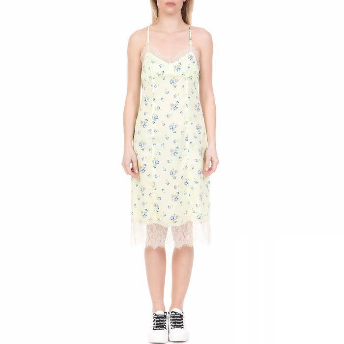JUICY COUTURE - Γυναικείο midi φόρεμα LACE SLIPJUICY COUTURE φλοράλ