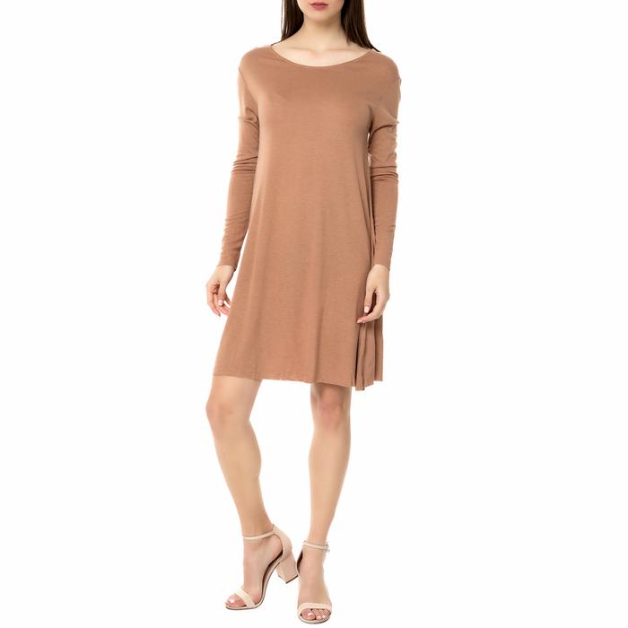 AMERICAN VINTAGE - Γυναικείο μίντι φόρεμα VEL69H16 AMERICAN VINTAGE ανοιχτό καφέ