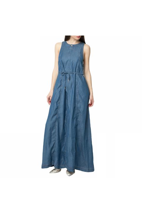 G-STAR RAW - Γυναικείο τζιν μάξι φόρεμα G-STAR RAW μπλε