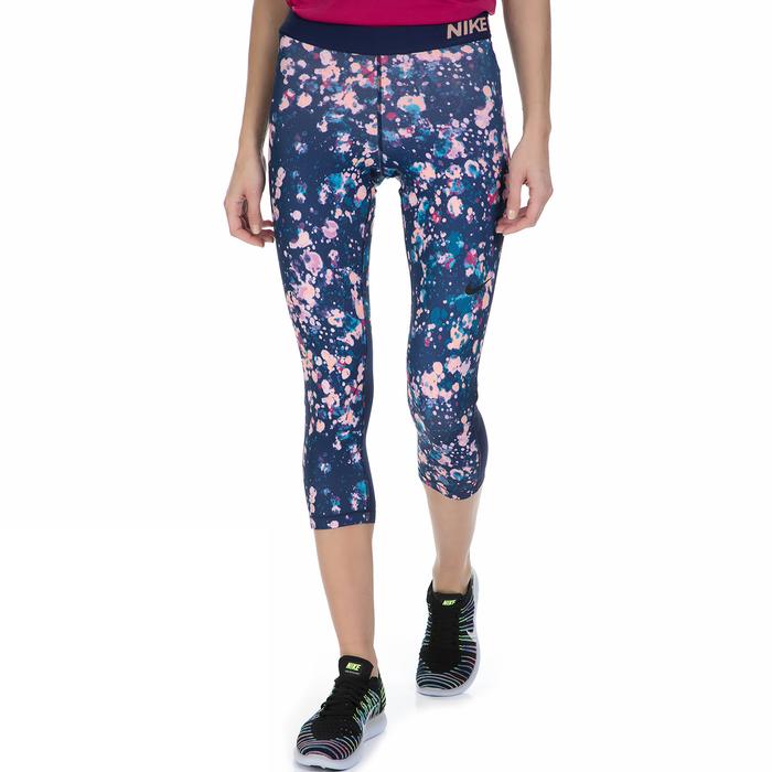 NIKE - Γυναικείο κάπρι κολάν Nike μπλε μοτίβο