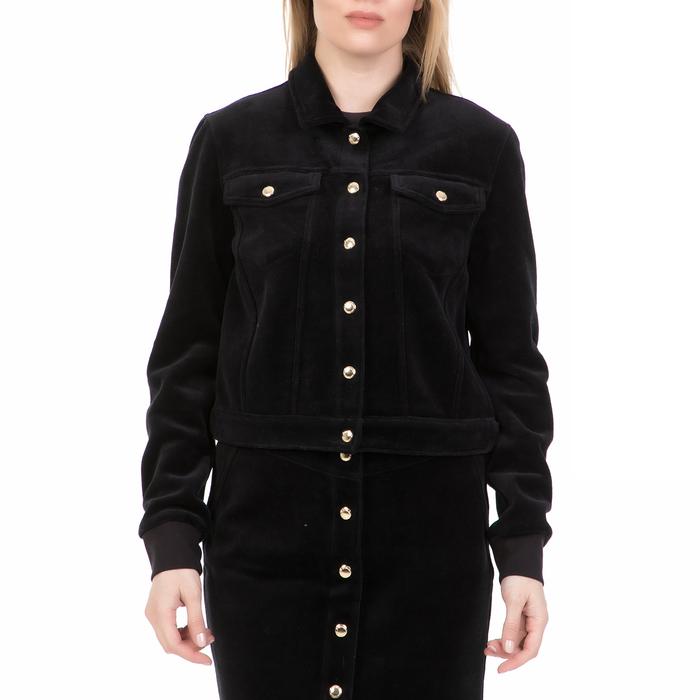 JUICY COUTURE - Γυναικείο jacket BONDED VELOUR JUICY COUTURE μαύρο
