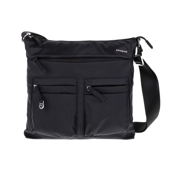 SAMSONITE - Τσάντα ώμου FLAT SHOULDER BAG IPAD μαύρη