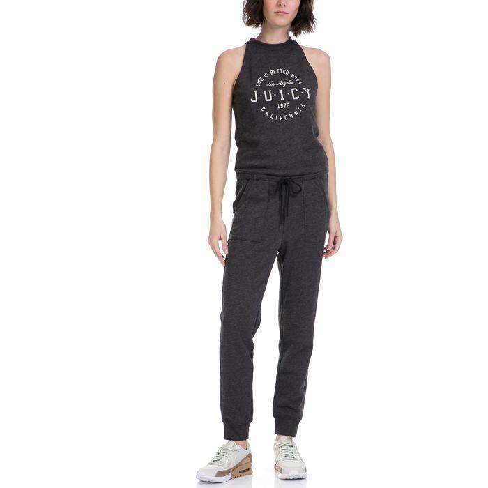 JUICY COUTURE - Γυναικεία ολόσωμη φόρμα DISTRESSED KNIT JUMPSUIT JUICY COUTURE γκρι