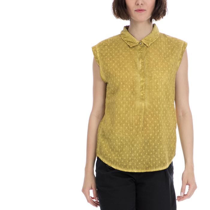 GARCIA JEANS - Γυναικείο πουκάμισο Garcia Jeans κίτρινο